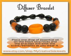 Essential oil diffuser bracelet.  SHOP: https://www.etsy.com/shop/MyCreativeSideJewels