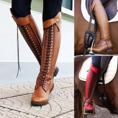 Buy Fashion Women Knee High Boots Vintage Leather Riding Boots Low-heel Women Knight Boots Botas De Mujer Stivali Da Donna at Wish - Shopping Made Fun Thick Heel Boots, Flat Boots, Knee High Boots, Heeled Boots, Shoe Boots, Women's Boots, Toe Shoes, Buy Boots, Chunky Boots