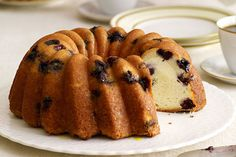 Some things just go together. Like blueberries and lemon. Especially when mixed into a deliciously moist cake with a smooth and creamy swirl.