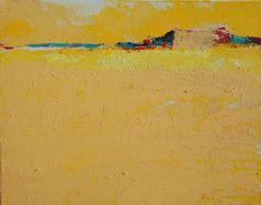 Sebastian Kalota - horyzont żółty #obraz #painting #malarstwo #horyzont #pejzaż #akryl #grafika