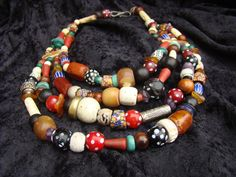 Treasure necklace with wide variety of African by familyonbikes, $350.00