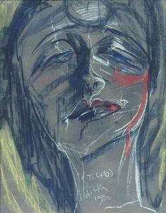 obraz Portret kobiety - Stanisław Ignacy Witkiewicz Witkacy - Wally