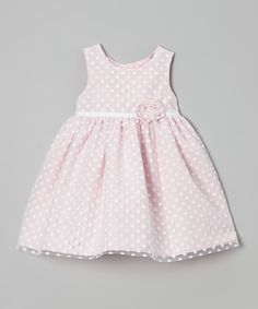 Pink Polka Dot Ruffle Flower Dress - Infant & Toddler by Marmellata #zulily #zulilyfinds