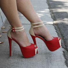 How High Peep-Toe Colorblock Heels on Chiq  $44.20 http://www.chiq.com/gojane/how-high-peep-toe-colorblock-heels-0