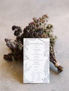 Kinfolk simple menu.