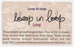 Loop in loop is indicative of liars....