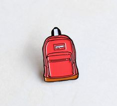 Pink Jansport Backpack Lapel Pin 1.25 soft by TheSilverSpider
