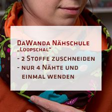 DaWanda Nähschule: Loopschal aus zwei Stoffen | pattydoo