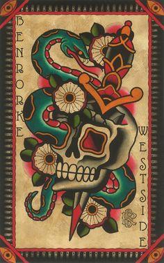 Ben Rorke Tattoo Flash | KYSA #ink #design #tattoo