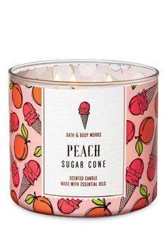 bath and body works spring Peach Sugar Cone Candle Bath Candles, 3 Wick Candles, Scented Candles, Candle Jars, Homemade Candles, Bath Body Works, Bath And Body Works Perfume, The Body Shop, Sephora
