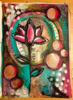 Lifebook art journal page with Alena Hennessy- intuitive painting | por Tr4cy1973
