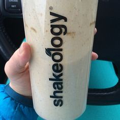 Peanut Butter Banana Oatmeal Shakeology  1 scoop vanilla (or chocolate!) Shakeology  1 yellow (1/3 cup) rolled oats  1 Tbsp PB2 (or 1 tsp natural peanut butter)  1/2 banana  10 oz water    Delicious and filling! #21DayFixApproved #Shakeology