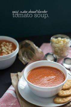 Easy, Make Ahead Blender Tomato Soup