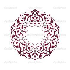 Yükle - Pembe Osmanlı motifleri beyaz zeminde — Stok İllüstrasyon #26283561