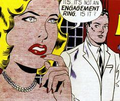 1961 Roy Lichtenstein, Engagement Ring, Pop Art. @deFharo