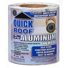 This amazing CPI COFAIR PRODUCTS INC. Quick Roof Pro Aluminum Surface Tape in White provides a permanent repair for both metal and fiberglass roofs. Popup Camper Remodel, Camper Renovation, Mobile Home Repair, Aluminum Uses, Interior Design Courses, Roofing Felt, Fibreglass Roof, Rv Trailers, Remodeled Campers