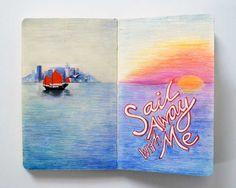 her sketch book--ellery yahia | graphic design. <3