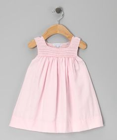 Take a look at this Pink Camille Hand-Crocheted Dress - Infant by Hug Me First on #zulily today!