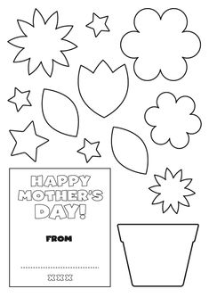 flower mothers day card templates
