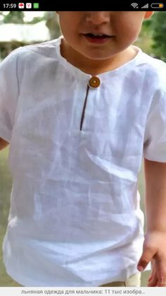 boys white linen tunic short sleeve tunic shirt pure linen - made to order Baby Boy Dress, Baby Girl Dress Patterns, Baby Boy Outfits, Kids Outfits, Boys Sewing Patterns, Baby Boy Fashion, Toddler Fashion, Kids Fashion, Fashion Outfits