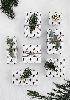 Christmas present, gift wrapping ideas, scandinavian style