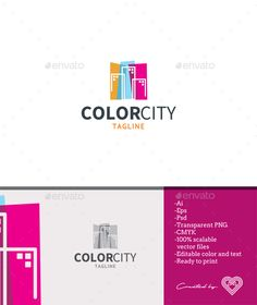Buy Color City by andiasmara on GraphicRiver. Color City is a colourful and youthful logo template with a city theme inside the color palette. Logo Design Template, Logo Templates, Building Logo, Real Estate Logo Design, City Logo, Realtor Logo, Logo Concept, Home Logo, Logo Color