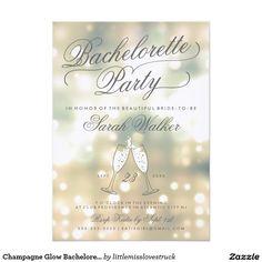 Champagne Glow Bachelorette Party Invitation