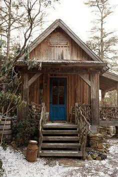 Best little rustic tiny house in the woods!