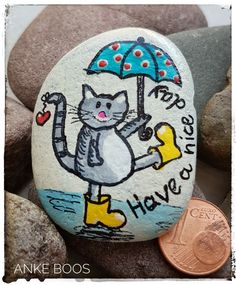 Stone Crafts, Rock Crafts, Arts And Crafts, Marble Painting, Love Painting, Stone Drawing, Weathered Paint, Lucky Stone, Hand Painted Rocks