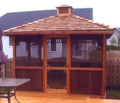 Cedarshed Square Gazebo with Screen Kit and Cupola options $4639.00 for 10 x 10 kit from BC