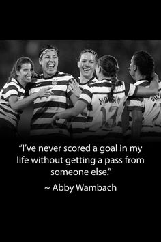 Abby Wambach......love this!