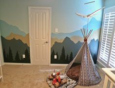 Project Nursery - mountain wall