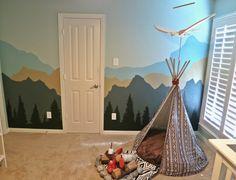 Project Nursery - mountain wall