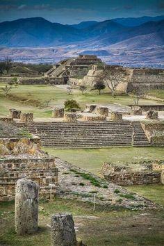 Pre-Columbian site Monte Alban. Oaxaca, MEXICO