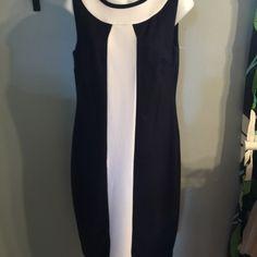 Sleeveless navy and white dress Sleeveless navy and white dress Dresses Mini