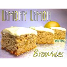 Ripped Recipes - Lemony Lemon Brownies - Moist, fluffly and finished with a lemony tart. Try not to eat them all at once!