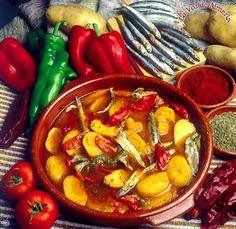 Caldo pimentón almeriense con boquerones : Mi recetario de cocina. Recetas y consejos.