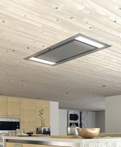 This Galaxy Ceiling Franke Hood is perfect for a kitchen with an island www. Kitchen Extractor, Kitchen Island With Sink, Kitchen Vent, Kitchen Exhaust, Hidden Kitchen, Extractor Hood, Kitchen Pendant Lighting, Kitchen Pendants, Kitchen Colors