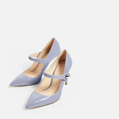 Image 1 of PATENT FINISH HIGH HEEL SHOES WITH STRAP from Zara