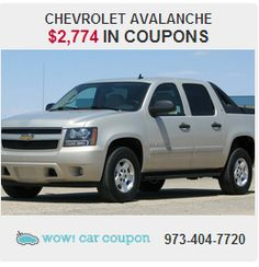 Don't miss this amazing deal!! Excellent 2007 #Chevrolet Avalanche with $ 2,774 in coupon #savings!!! Check our website for this offer  www.wowcarcoupon.com!! #wowcarcoupon