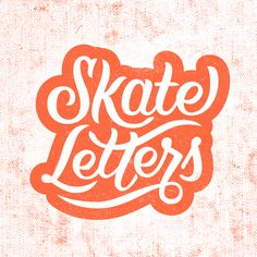 inspiring Design   Skate Letters by Scott Biersack   #typography