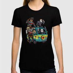 The Massacre Machine Horror T-shirt.  available at Society6. #crazygang #massacremachine #horror #shareyoursociety6 #tshirts #girlstees #scary #scoobydoo #themysterymachine #freddykruger #texaschainsawmassacre #movies #moviemonsters #evil #vans #halloween #gangoffour #saw #jason #fridaythe13th #cartoons #hannabarbera #parody #fun Texas Chainsaw Massacre, Girls Tees, Art Market, Pop Art, Scary, Horror, Cartoons, Vans, Gift Ideas