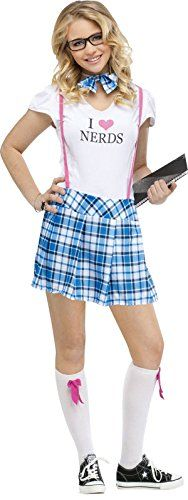 Fun World Costumes Women's I Love Nerds Teen Costume - http://morehalloween.com/product/fun-world-costumes-womens-i-love-nerds-teen-costume/