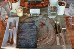 decoration detail - country chic - art de la table - chic board art menu
