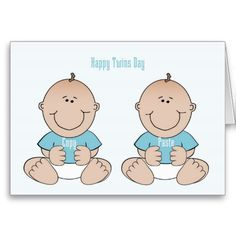 Happy Twins Day Boys Card Twin Birthday Cards For Sister
