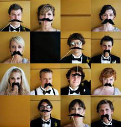 My wedding. And our wedding moustaches! Photos by @Andrea Hanki
