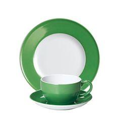 #Dibbern Solid Color Apfelgrün - Frühstücksgedeck