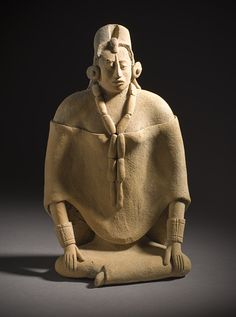 Whistle in the Form of Female Figure  Mexico, Maya  600-900
