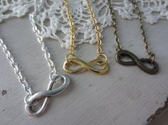 Three Best Friends Infinity Necklaces by michaelandsabriney, $27.00