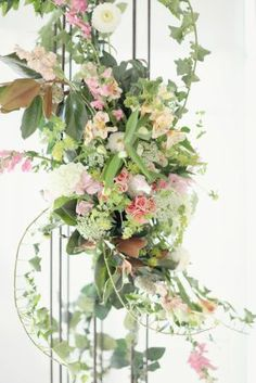 Floral Garland on Wedding Arch